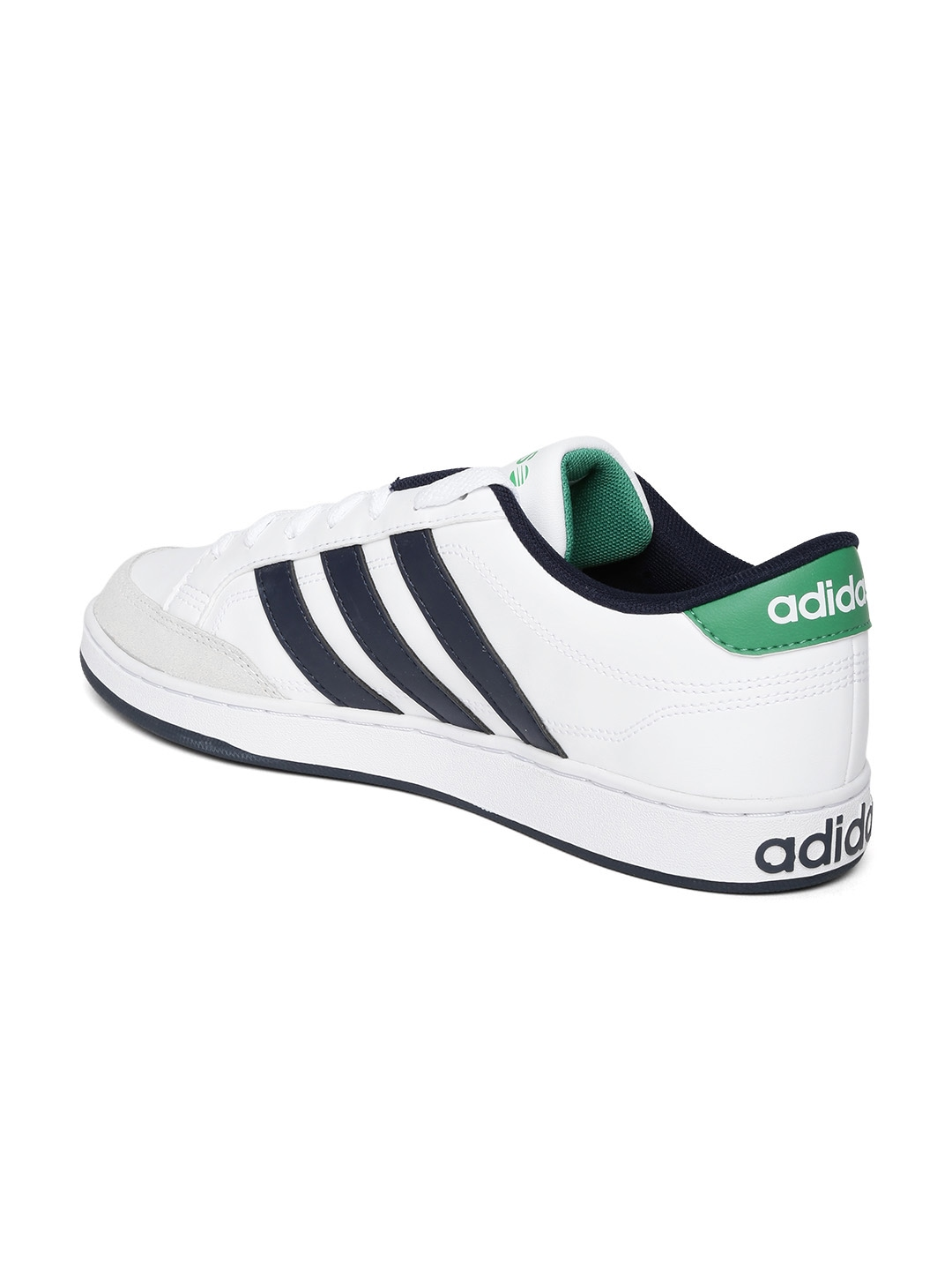 myntra adidas neo white leather casual shoes 655752