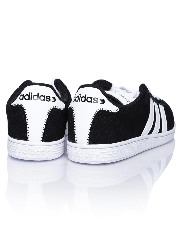 myntra adidas neo men black vl court suede casual shoes 655757 buy myntra adidas neo casual. Black Bedroom Furniture Sets. Home Design Ideas