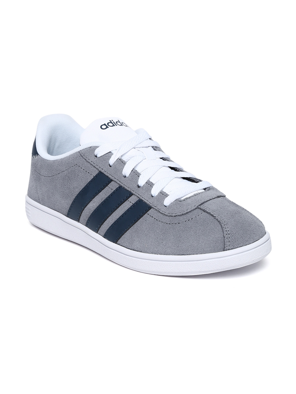 myntra adidas neo men grey vl court suede casual shoes 655758 buy myntra adidas neo casual. Black Bedroom Furniture Sets. Home Design Ideas