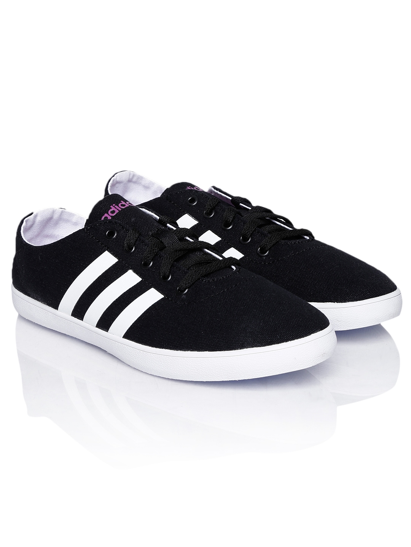 myntra adidas neo black qt vulc vs casual shoes