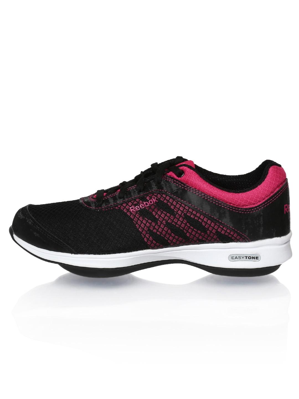 myntra reebok black easytone reenew iv sports shoes