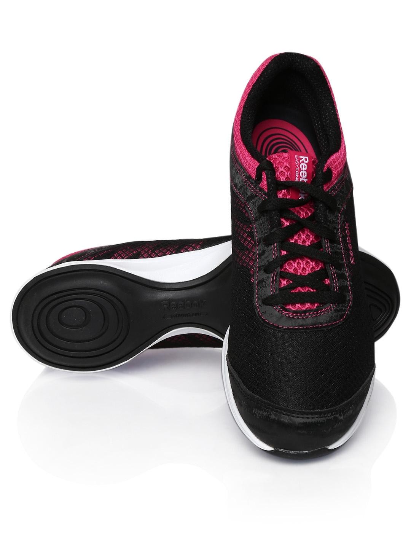 Black And Pink Reebok Easytone Shoes