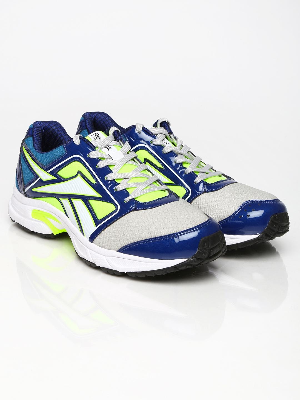 myntra reebok blue grey speed sports lp running