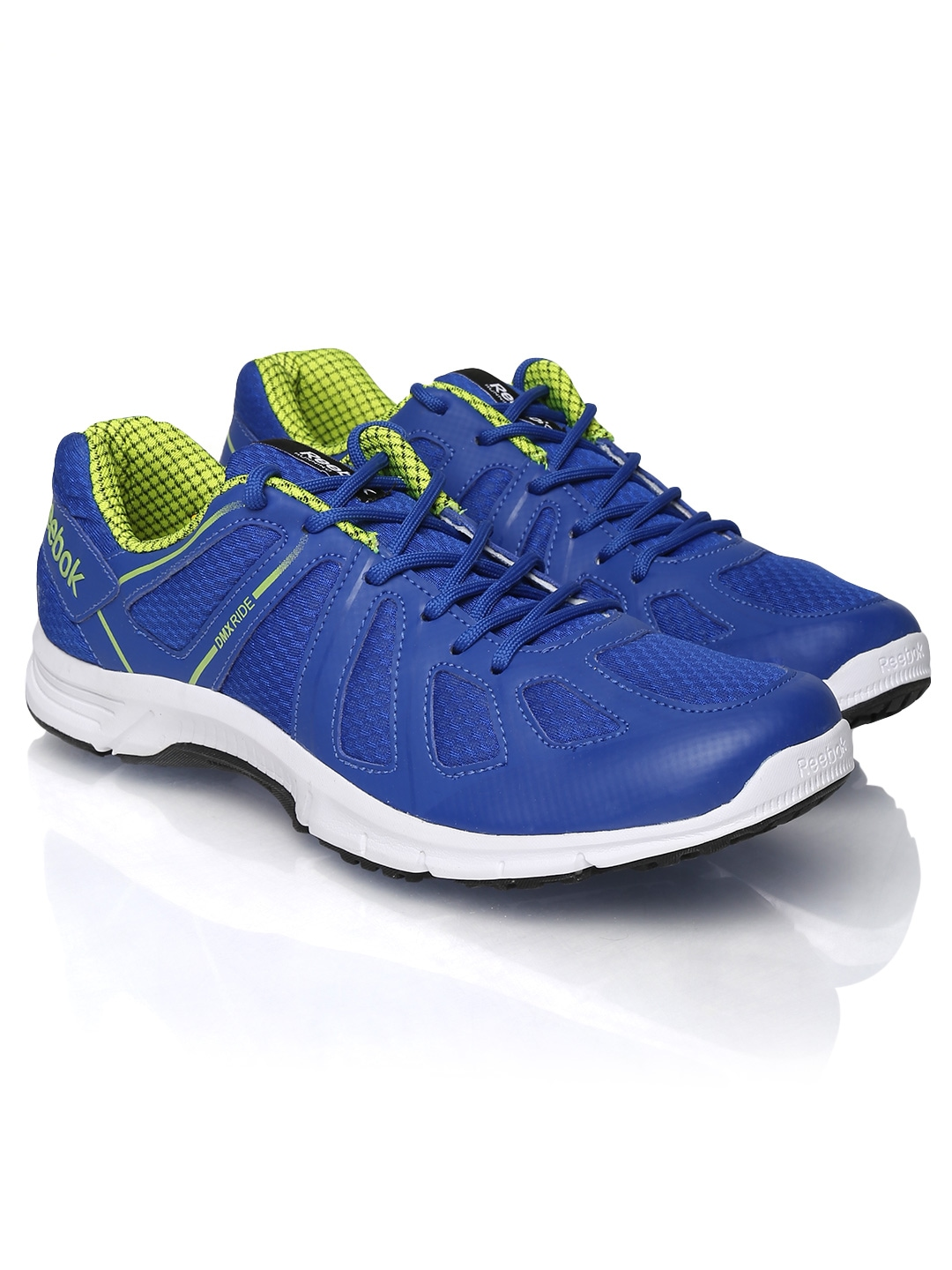 myntra reebok blue dual flight lp running shoes 655918