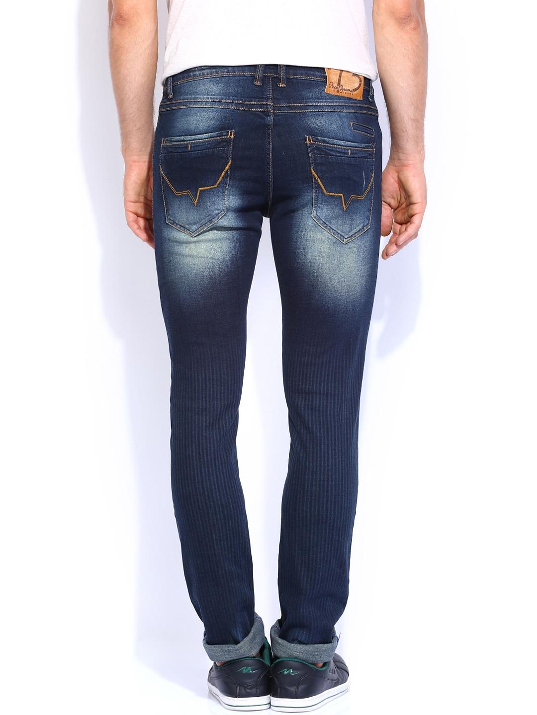 myntra pepe jeans men blue soho super slim fit jeans. Black Bedroom Furniture Sets. Home Design Ideas