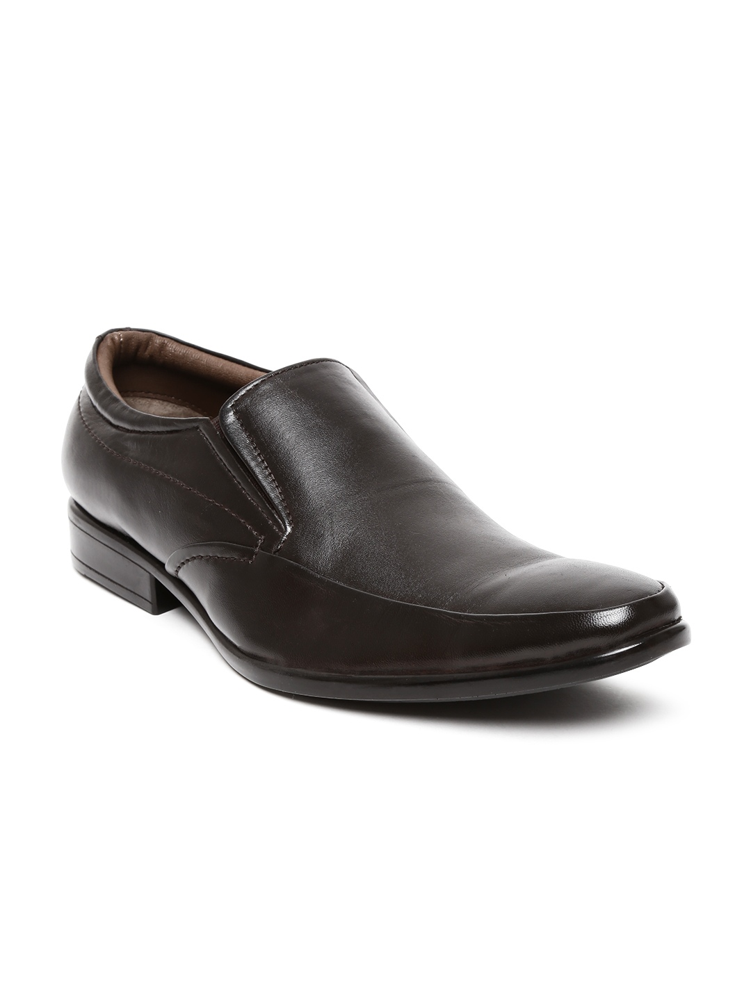 myntra allen cooper brown leather formal shoes