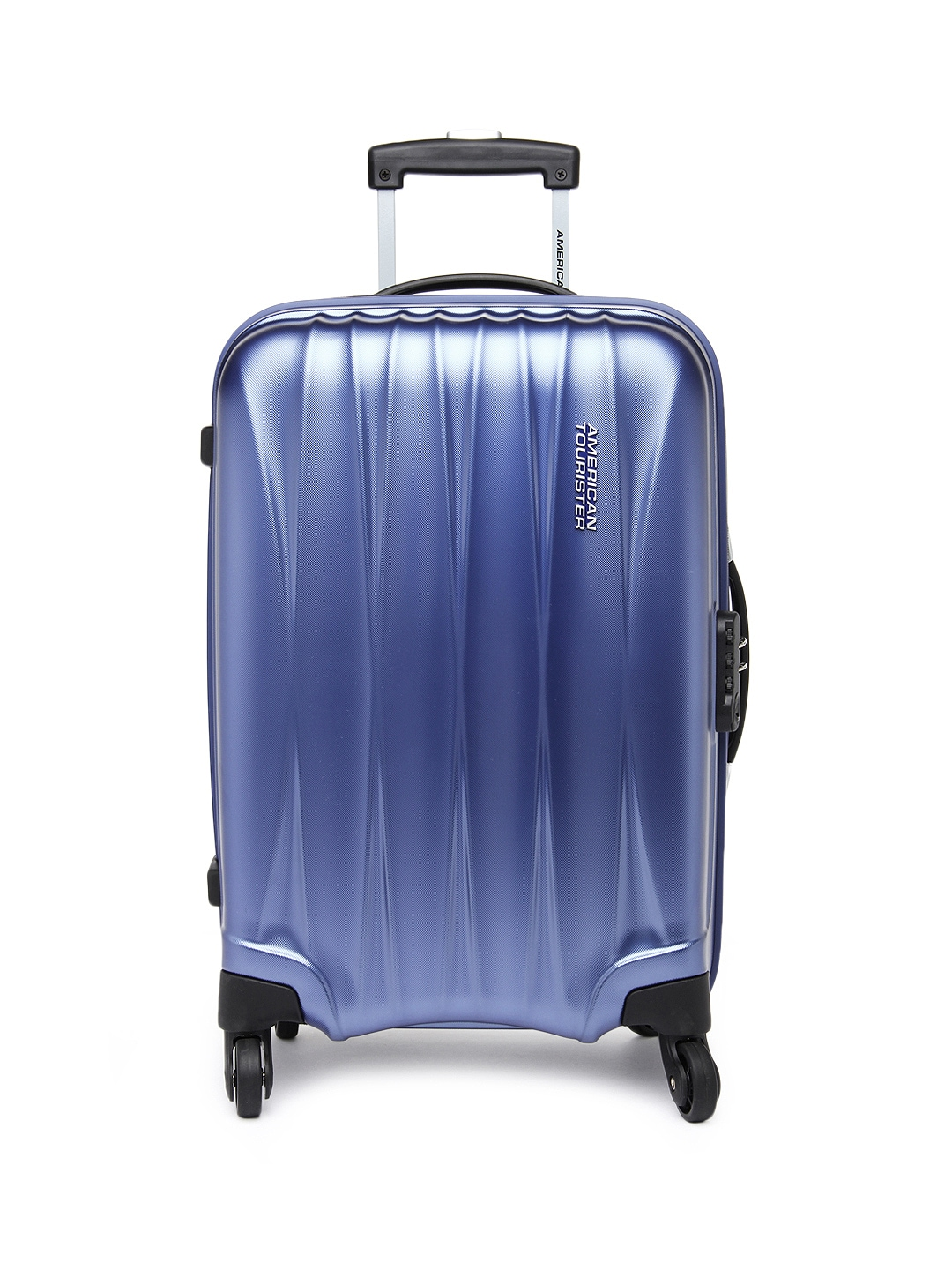 myntra american tourister unisex blue arona small trolley