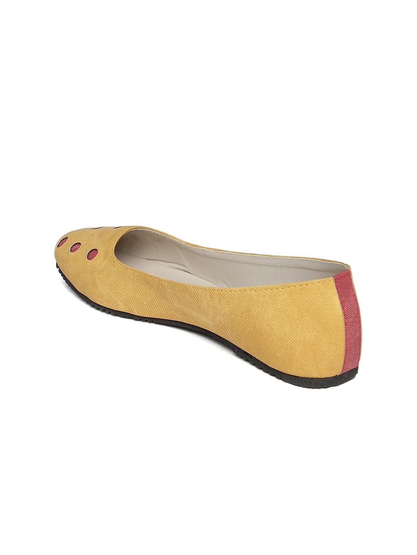 Yellow Mustard Flat Shoes
