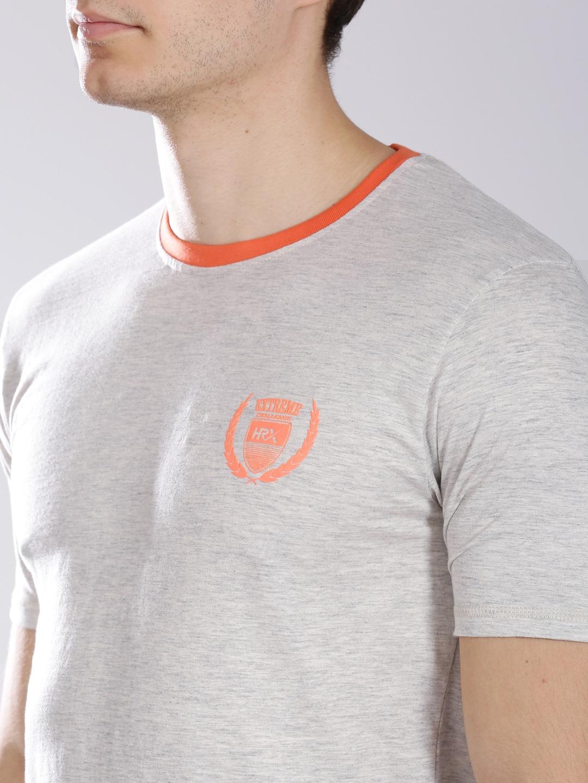 Myntra hrx grey melange active t shirt 659367 buy myntra for Myntra t shirt design