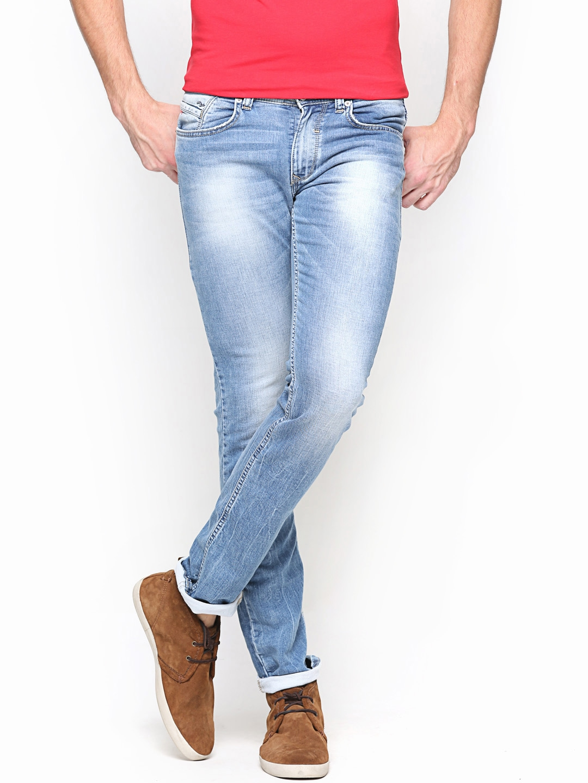 Myntra Spykar Men Blue Tight Fit Jeans 659710 Buy Myntra