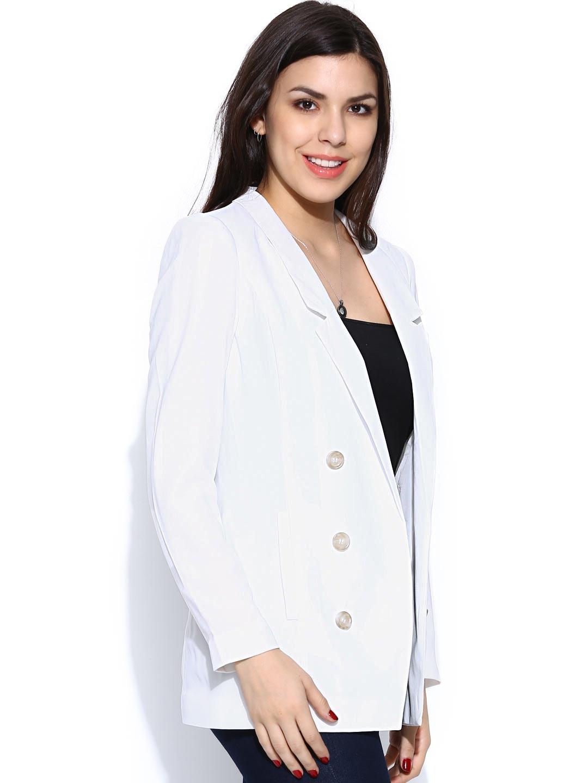 myntra vero moda women white blazer 659791 buy myntra vero moda blazers at best price online. Black Bedroom Furniture Sets. Home Design Ideas