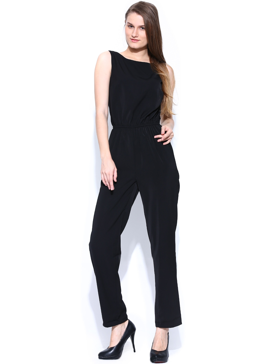 myntra vero moda women black jumpsuit 659805 buy myntra vero moda jumpsuit at best price. Black Bedroom Furniture Sets. Home Design Ideas