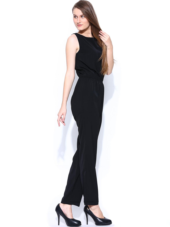 myntra vero moda women black jumpsuit 659805 buy myntra. Black Bedroom Furniture Sets. Home Design Ideas