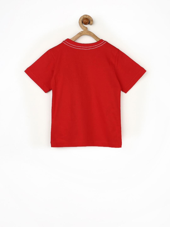 Myntra yellow kite boys red printed t shirt 660997 buy for Boys printed t shirts