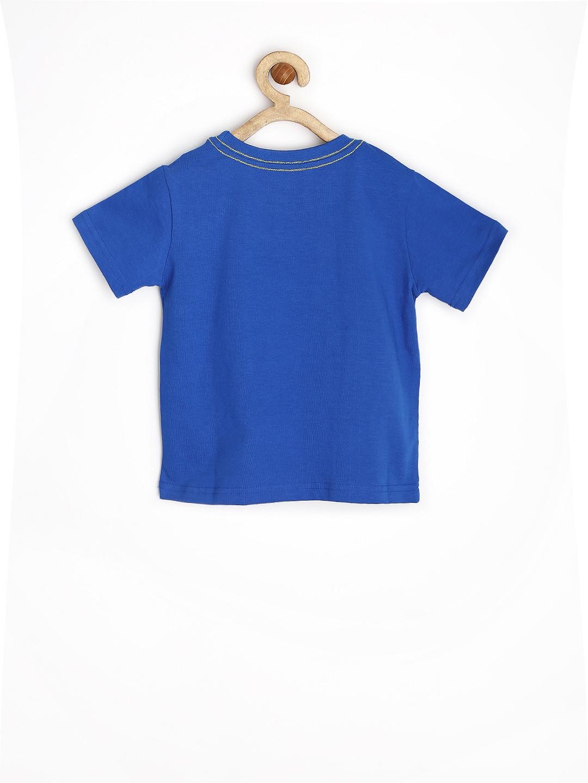 Myntra yellow kite boys blue printed t shirt 661002 buy for Boys printed t shirts