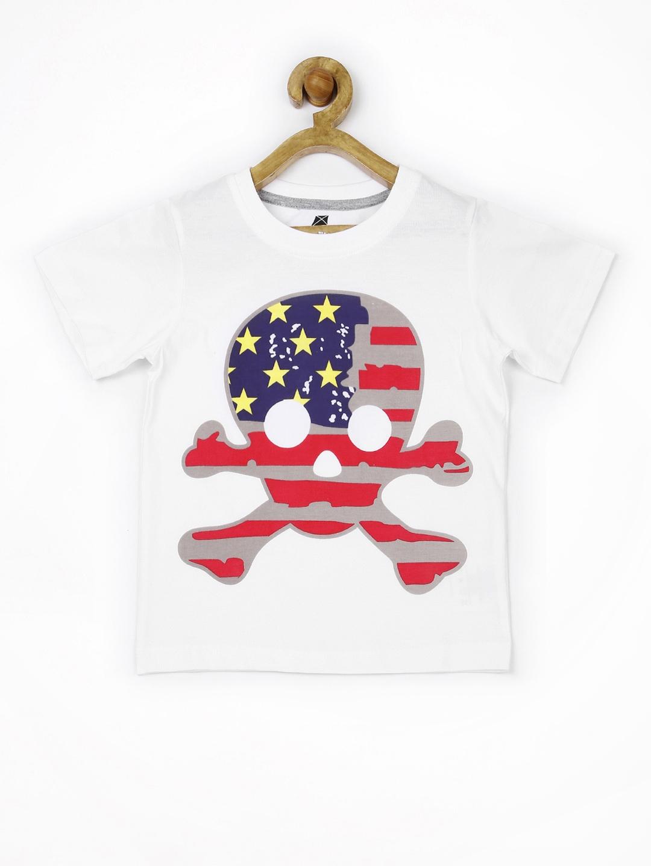 Myntra yk boys white printed t shirt 661006 buy myntra for Boys printed t shirts