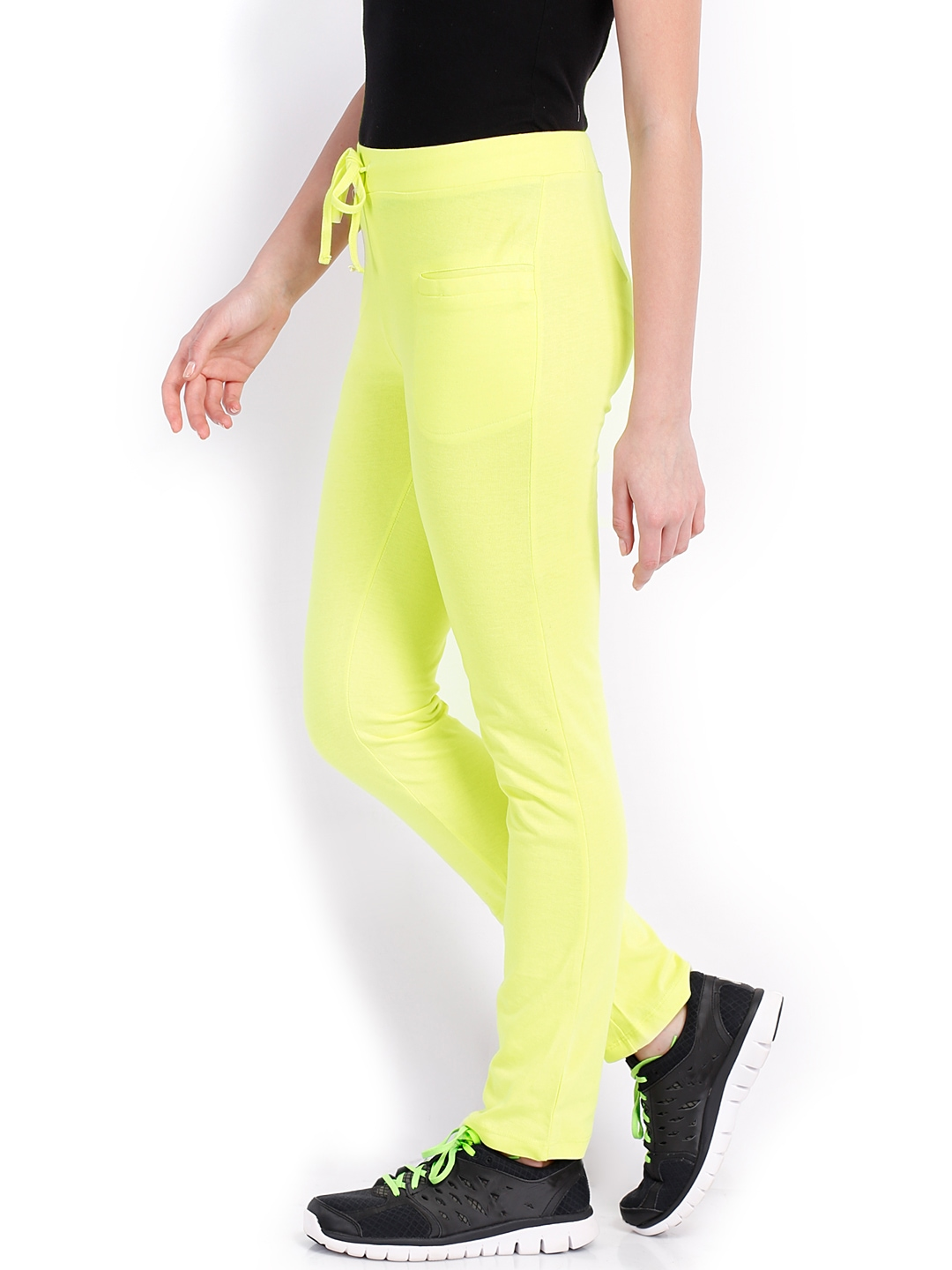 Amazing Fin Lilac Amp Lime Green Contrast Capri Yoga Pants  Women  Zulily