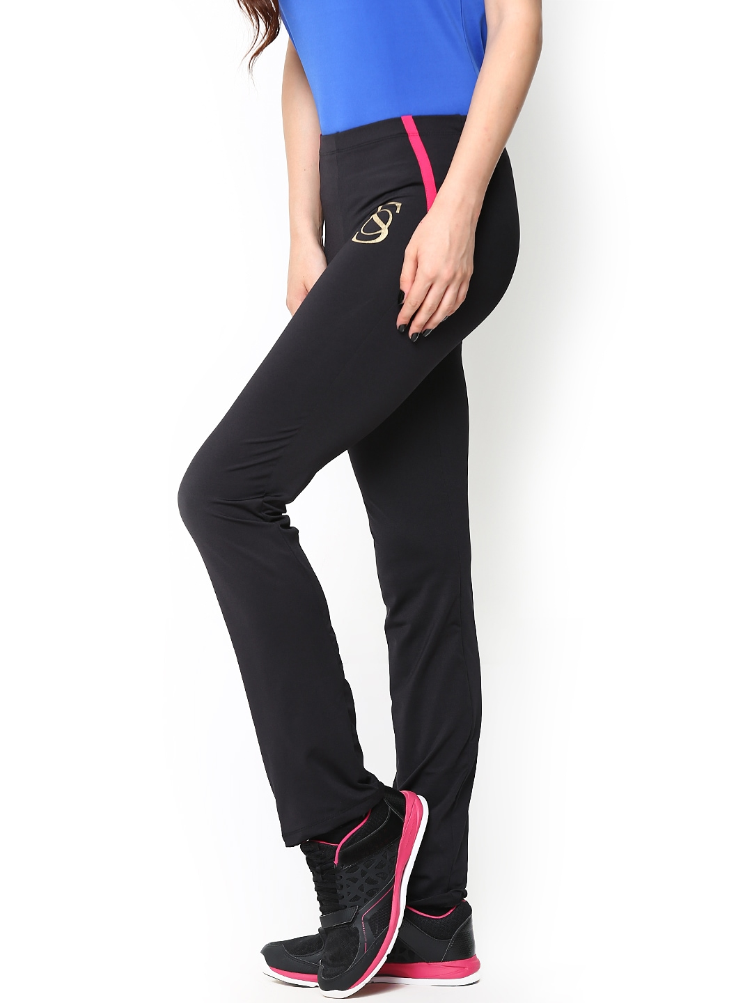 Perfect  186 Women S Clothing Sportswear Style Guns Black Track Pants For Women