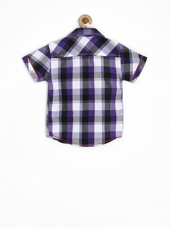 Myntra dreamszone boys purple white checked shirt 664118 for Purple and white checked shirt