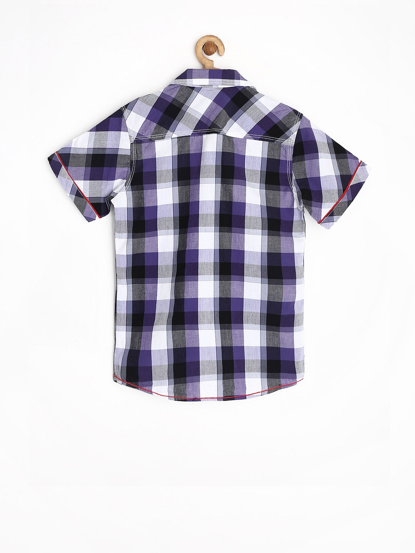 Myntra Dreamszone Boys Purple White Checked Shirt 664119