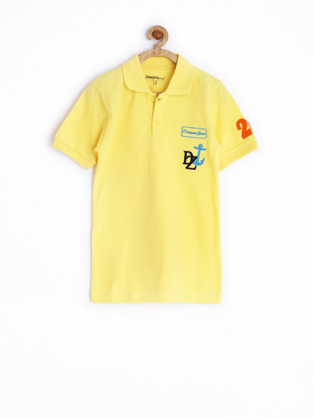 Myntra Dreamszone Boys Yellow Polo T Shirt 664213 Buy
