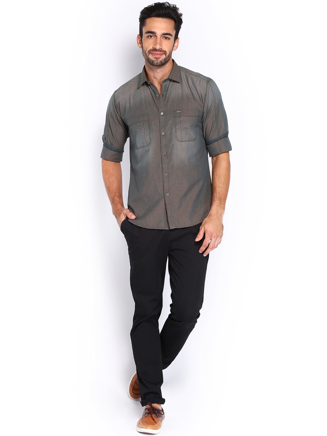 This weekend-perfect casual shirt features a button-down collar and two Amazon Essentials Men's Regular-Fit Long-Sleeve Gingham Shirt. by Amazon Essentials. $ $ 18 00 Prime. Exclusively for Prime Members. Some sizes/colors are Prime eligible. out of 5 stars Product Features.