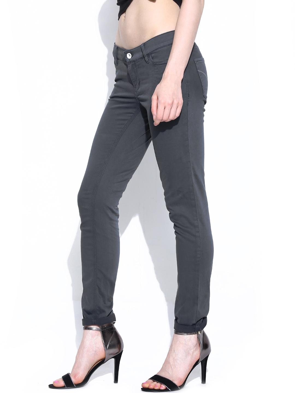 Myntra Calvin Klein Jeans Women Grey Slim Fit Jeans 670075 ...