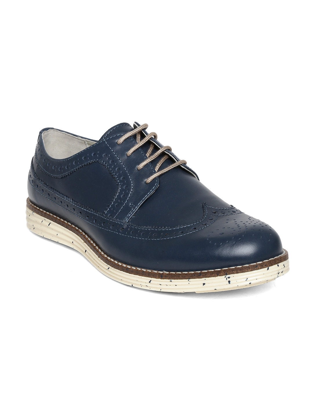 myntra united colors of benetton navy leather casual