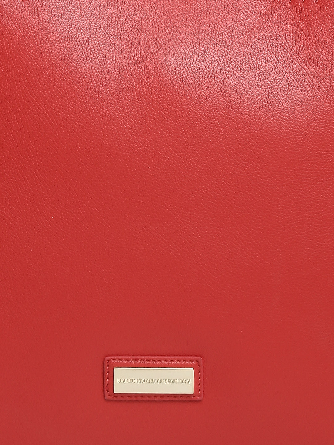 myntra united colors of benetton red oversized handbag