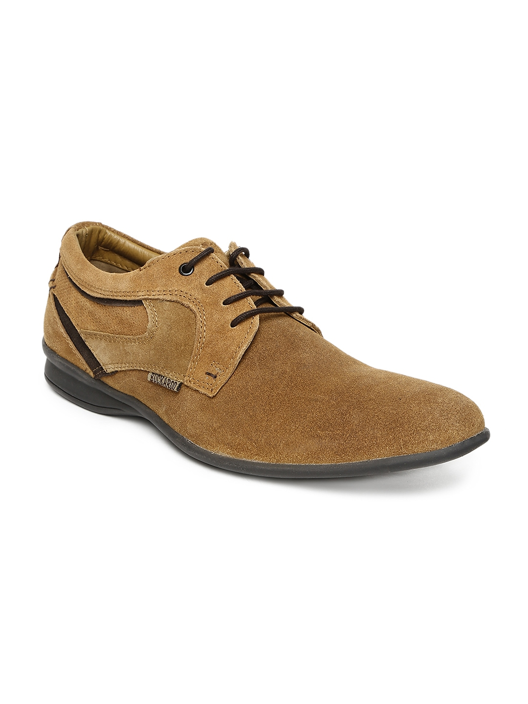myntra buckaroo black fausto leather casual shoes