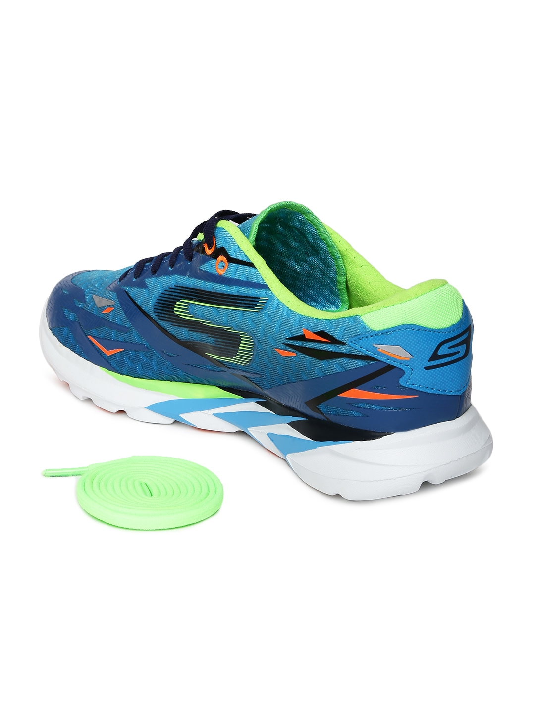 myntra skechers blue go meb speed 3 sports shoes