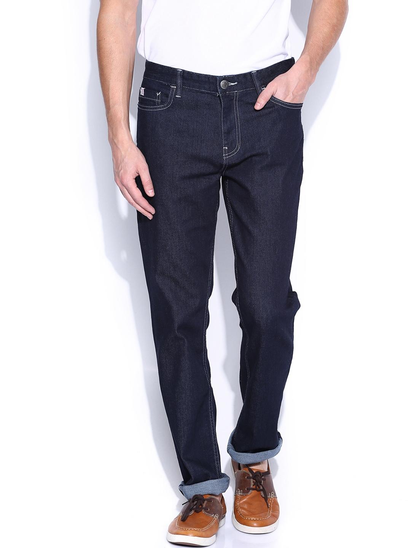 Myntra Calvin Klein Jeans Men Blue Slim Straight Fit Jeans ...