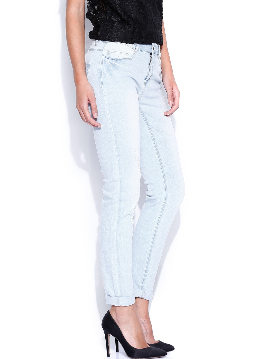myntra vero moda light blue jeans 683526 buy myntra vero moda jeans at best price online all. Black Bedroom Furniture Sets. Home Design Ideas