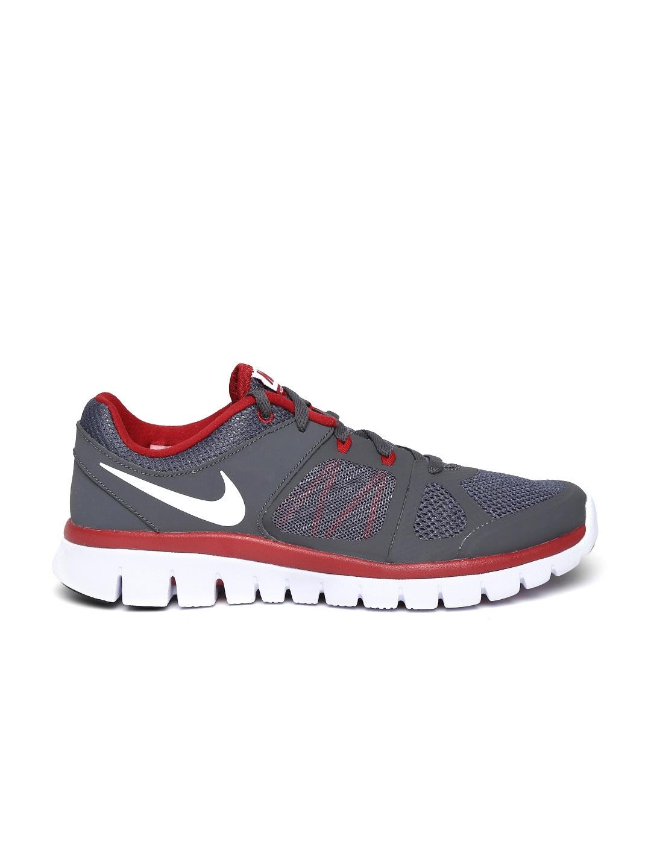 myntra nike boys grey flex 2014 rn gs running shoes 683962