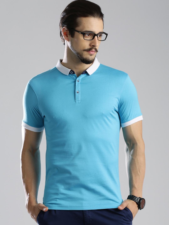 Myntra invictus blue polo t shirt 686148 buy myntra for Myntra t shirt design