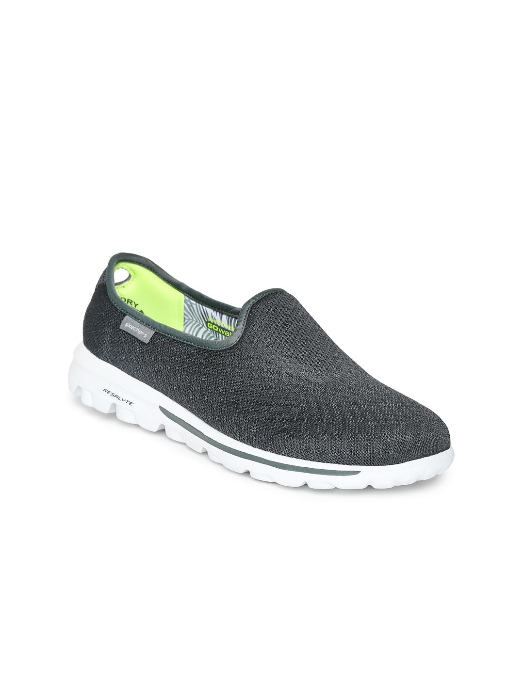 myntra skechers grey go walking shoes 686569 buy