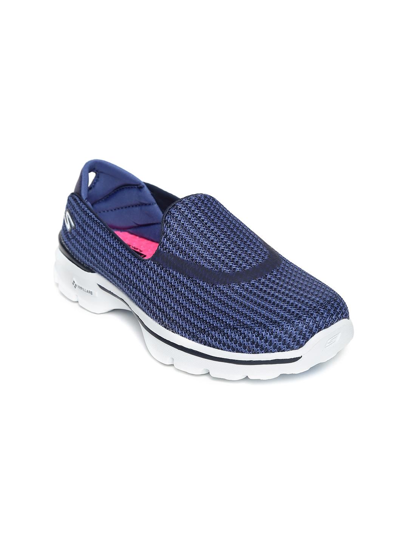 myntra skechers blue go 3 walking shoes 686574 buy
