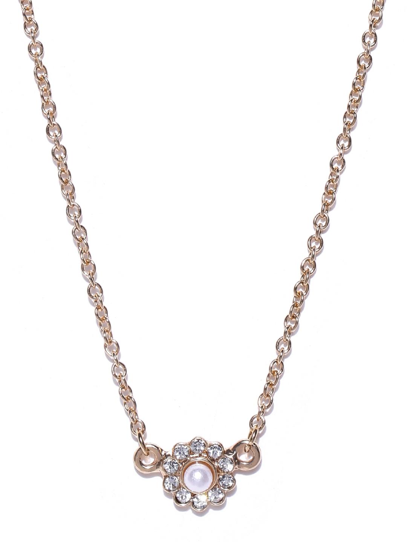 myntra vero moda goldtoned princess necklace 686718 buy