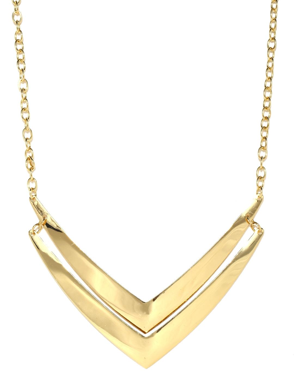 myntra vero moda goldtoned matinee necklace 686735 buy