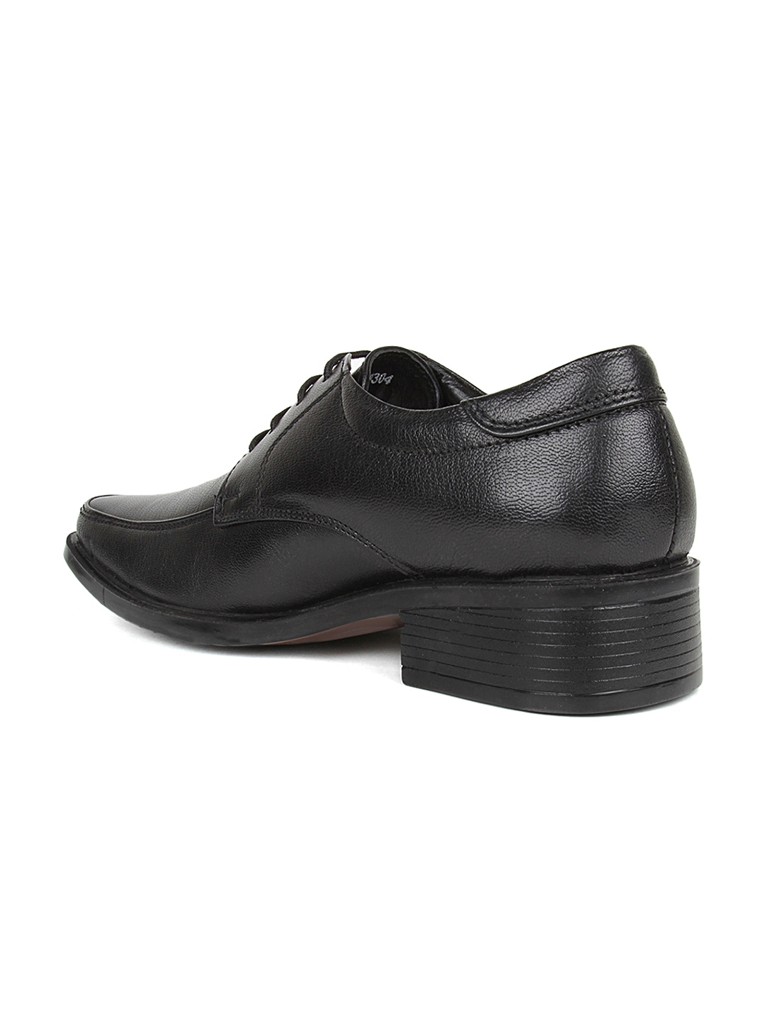 myntra hubland black leather formal shoes 686837 buy