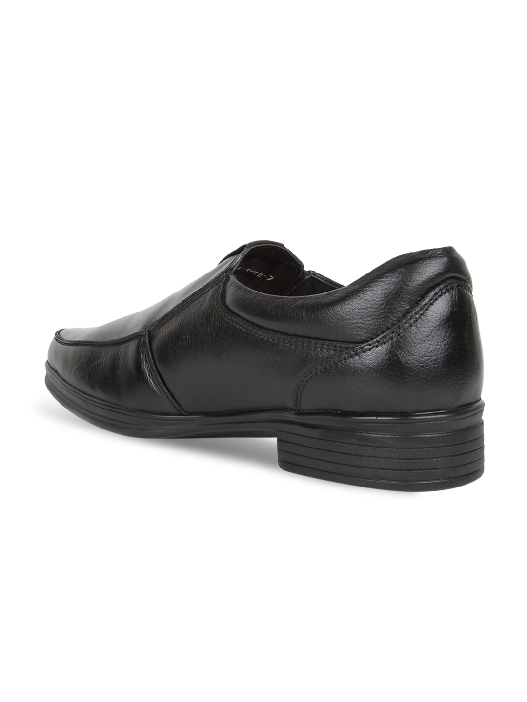 myntra hubland black leather formal shoes 686843 buy