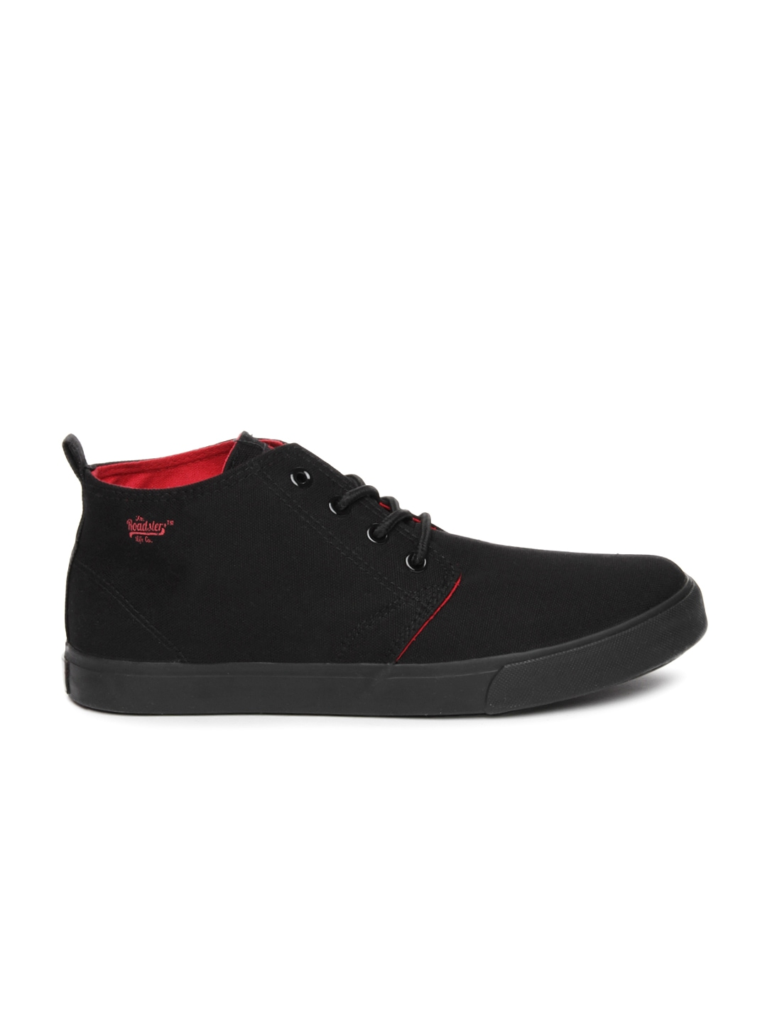 myntra roadster black casual shoes 687918 buy myntra