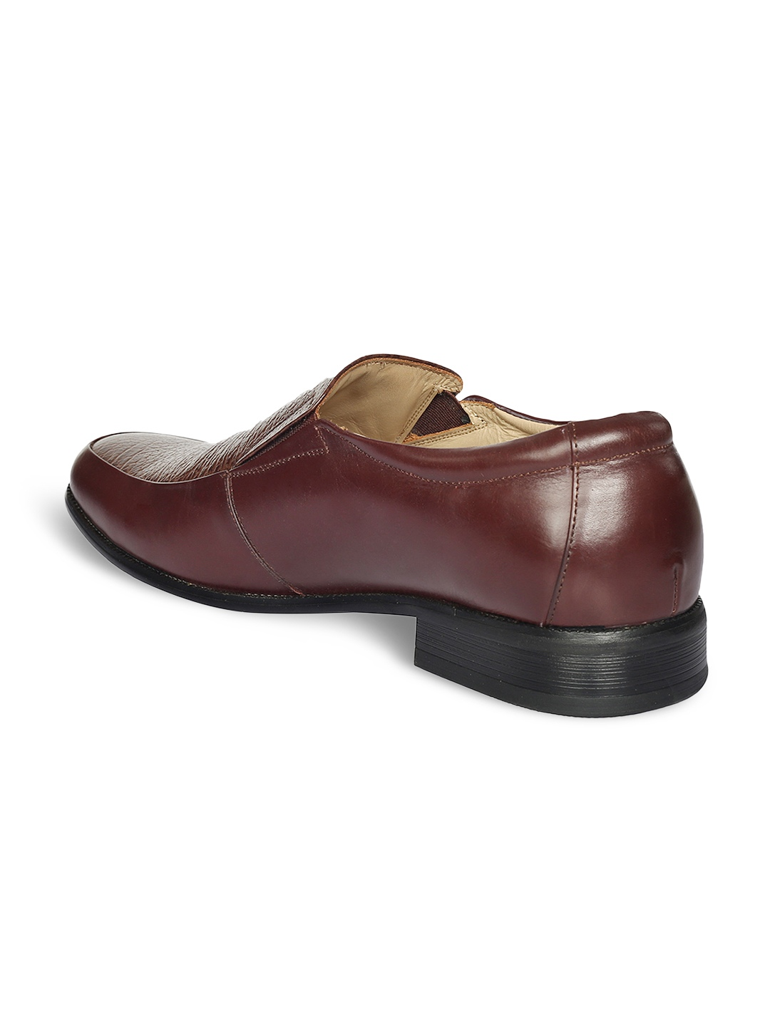 myntra claude lorrain brown leather formal shoes