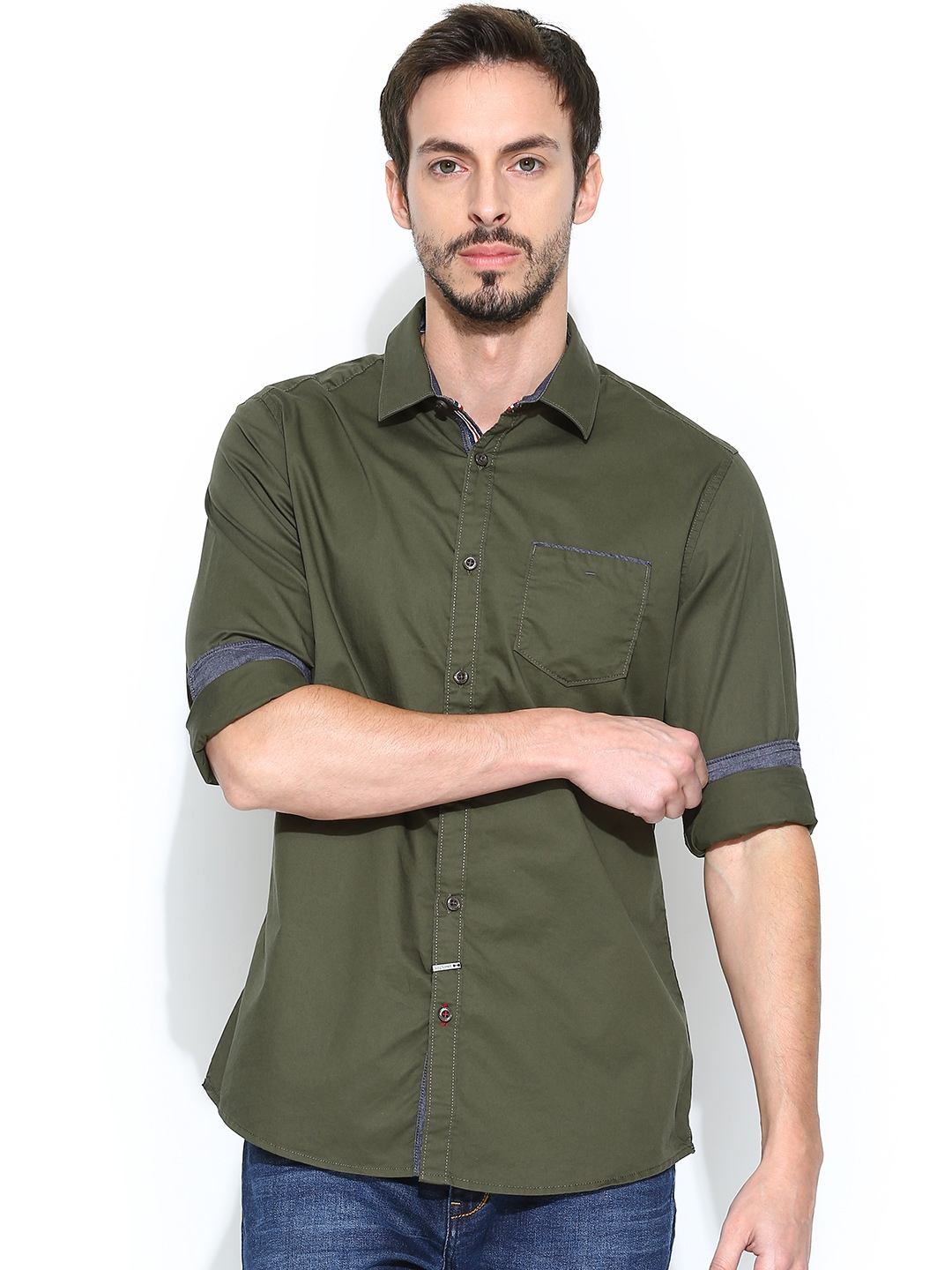 Olive Green Shirts For Men