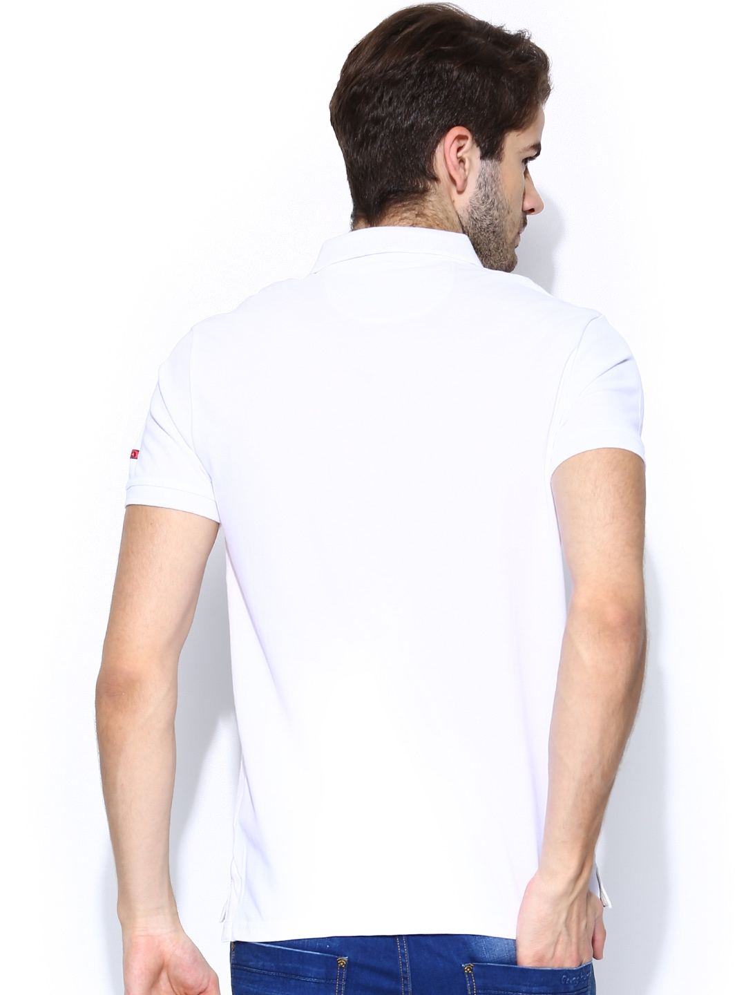 Myntra being human clothing men white polo t shirt 696566 for Buy being human t shirts online