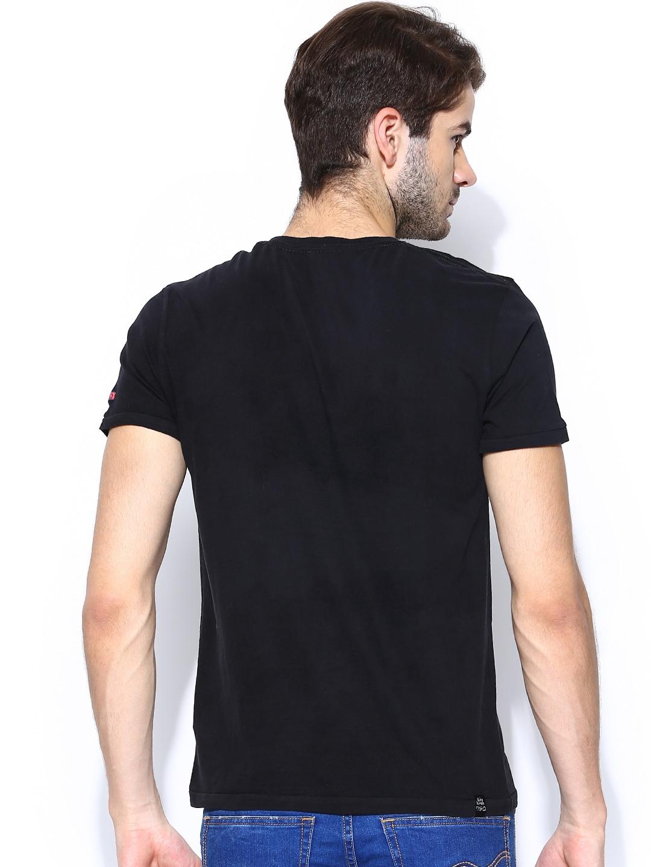Myntra being human clothing men black printed t shirt for Buy being human t shirts online