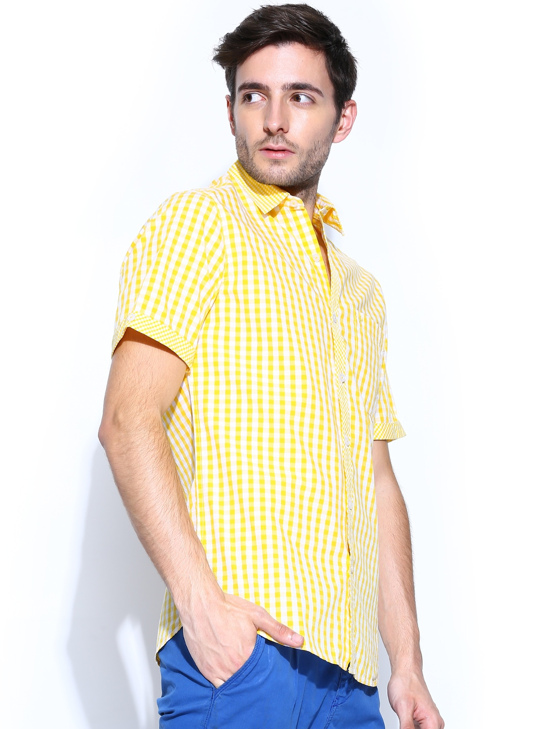 Women's Yellow Checked Shirt $ From Farfetch Price last checked 13 hours ago. Product prices and availability are accurate as of the date/time indicated and are subject to change. Any price and availability information displayed on partners' sites at the time of purchase will apply to .