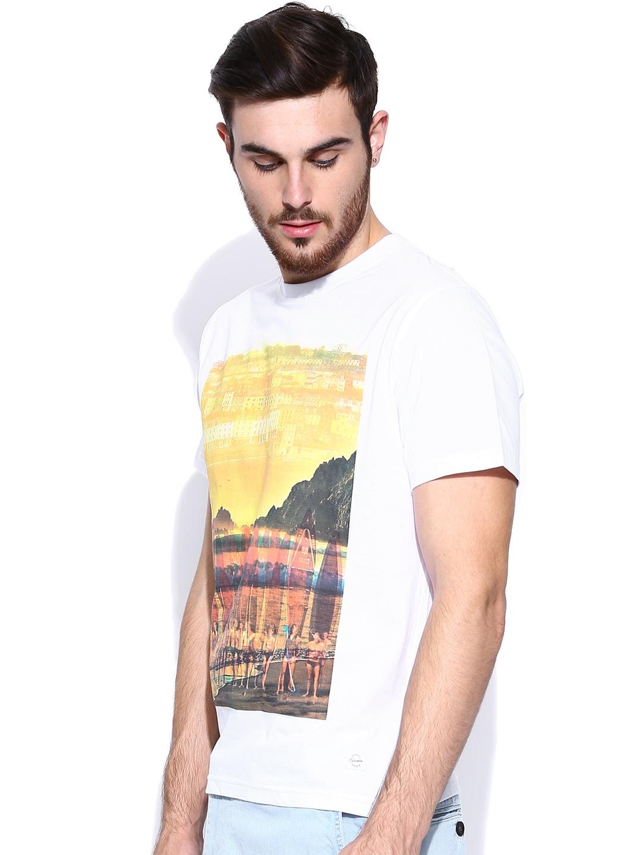 Myntra Indian Terrain Men White Printed T Shirt 698847