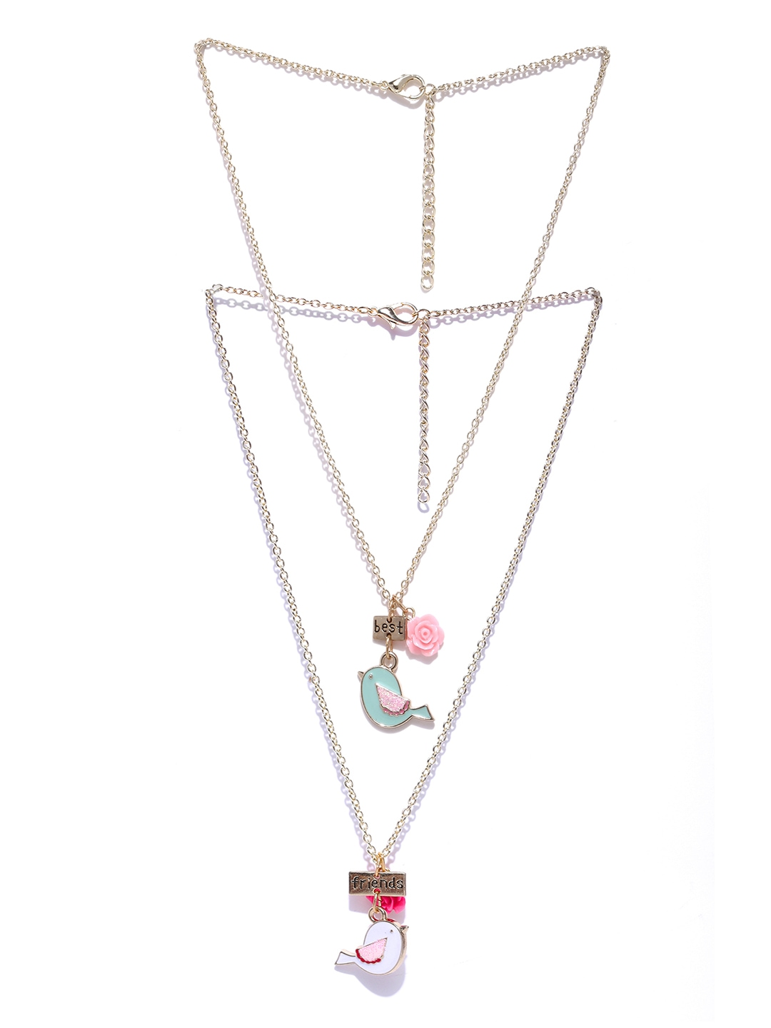 myntra angels by accessorize goldtoned chain necklace