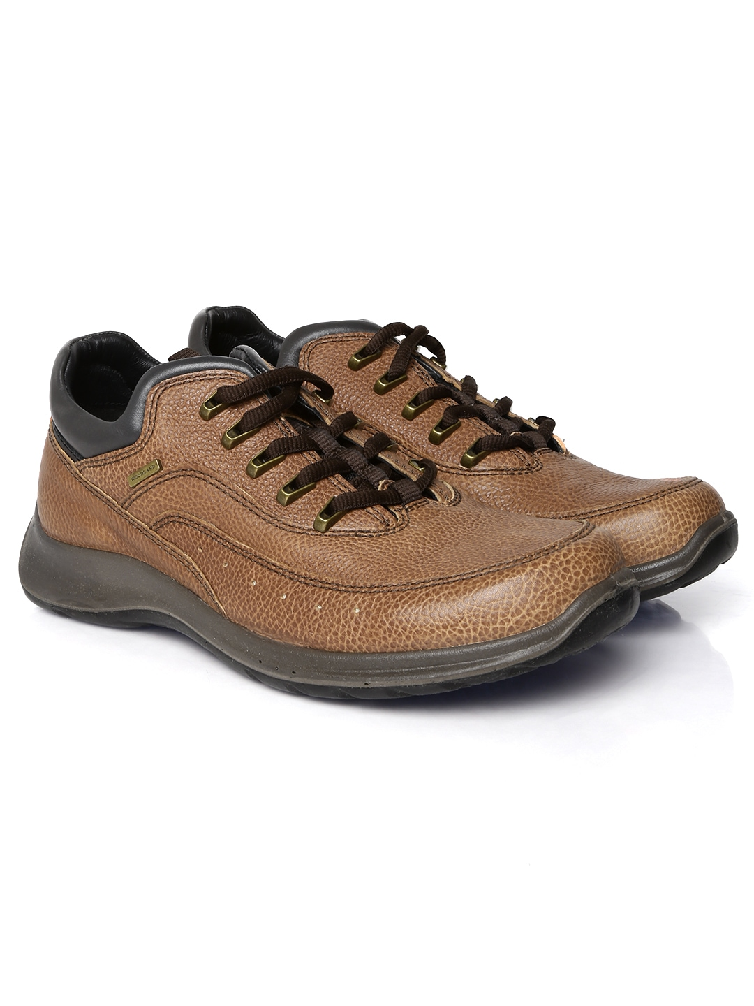 myntra woodland brown leather casual shoes 699013